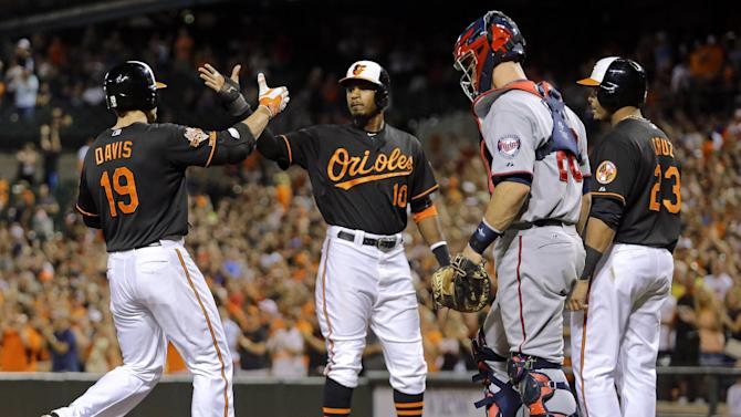 Davis slam carries Orioles past Twins 9-1