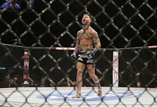 Cody Garbrandt is still undefeated after stopping Thomas Almeida. (AP Photo)