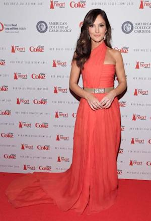 Minka Kelly stuns at the Heart Truth Red Campaign event --