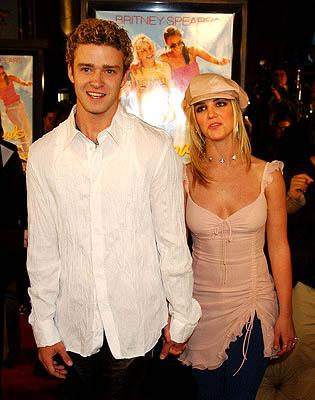 Premiere: Justin Timberlake and Britney Spears at the Hollywood premiere for Paramount's Crossroads - 1/11/2002