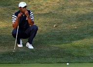 Tiger Woods of the USA lines up a stroke during the Ryder Cup in Medinah, Illinois, at the weekend. Woods will lead the field in Malaysia later this month at the CIMB Classic, a PGA Tour co-sanctioned event, with 38 players now confirmed, organisers said Monday