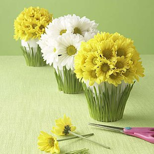 Easy, DIY Flowerpot Centerpieces