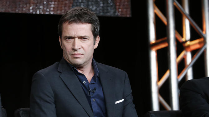 "CORRECTS DAY AND DATE - James Purefoy from ""The Following"" attends the Fox Winter TCA Tour at the Langham Huntington Hotel on Tuesday, Jan. 8, 2013, in Pasadena, Calif. (Photo by Todd Williamson/Invision/AP)"