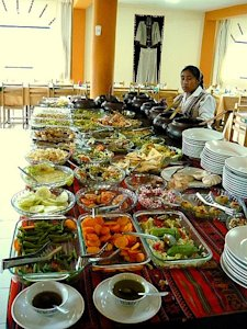 Buffet spread