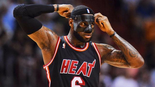 Basketball - Masked LeBron returns to lead Heat to victory