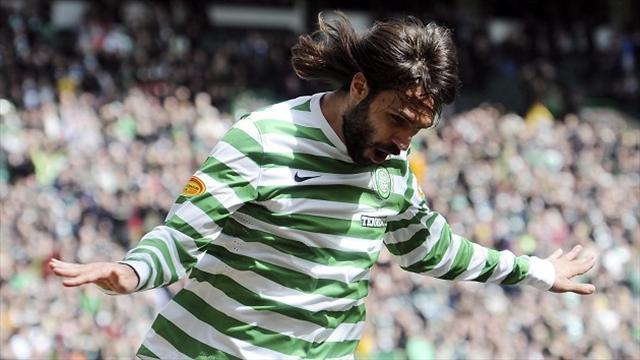 Champions League - Samaras scores as Celtic progress in qualifiers