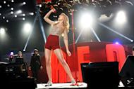 Singer Taylor Swift performs at Z100's Jingle Ball 2012 presented by Aeropostale at Madison Square Garden on Friday Dec. 7, 2012 in New York. (Photo by Evan Agostini/Invision/AP)