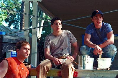 Seann William Scott , Jason Biggs and Thomas Ian Nicholas in Universal's American Pie 2