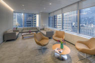 In this undated photo provided by CCRM New York, sunlight streams in to a serene, calming waiting space overlooking midtown New York's bustling cityscape, at the Colorado Center for Reproductive Medicine's New York offices. (CCRM New York via AP)