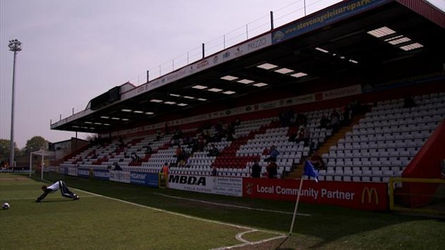 Stevenage's Broadhall Way aka Lamex Stadium