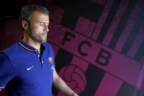 Barcelona: FC Barcelona's Spanish coach Luis Enrique prior to a press conference held after a team's training sesion at Joan Gamper Sports City in Barcelona, northeastern Spain, 04 August 2015