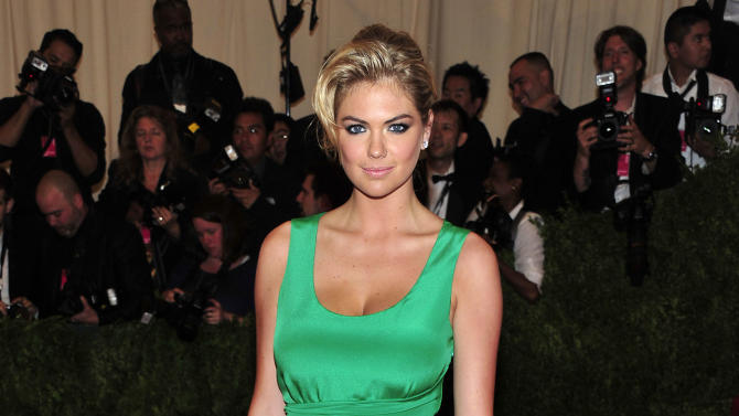 "Kate Upton attends The Metropolitan Museum of Art's Costume Institute benefit celebrating ""PUNK: Chaos to Couture"" on Monday May 6, 2013 in New York. (Photo by Charles Sykes/Invision/AP)"