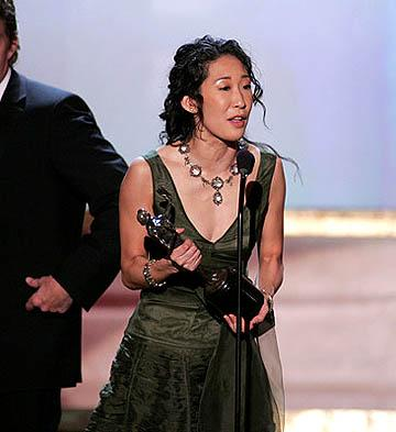 Sandra Oh of Sideways Outstanding Ensemble in a Motion Picture Screen Actors Guild Awards - 2/5/2005