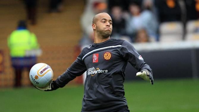 Darren Randolph, pictured, caught Callum Paterson with his leg early on in the match
