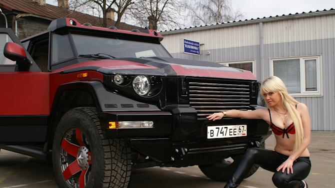 These photos of the Dartz Red Diamond Edition are as weird as the SUV, itself