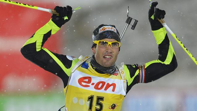 Biathlon - Fourcade wins World Cup opener in Ostersund