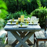 Tuscan dining: The table