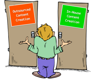 10 Great Advantages of Outsourcing Content Creation image outsourced vs in house content creation