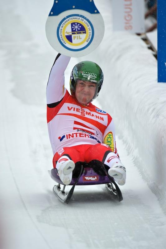 Austria's Manuel Pfister Hits AFP/Getty Images
