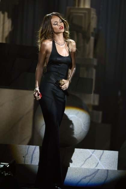 Rihanna performs onstage at the 55th Annual Grammy Awards at Staples Center on February 10, 2013 -- Getty Images