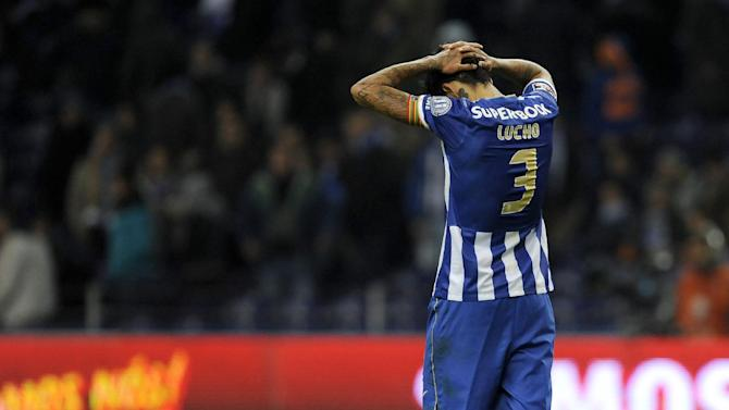 FC Porto's Lucho Gonzalez, from Argentina, reacts after their 1-1 draw against Nacional in a Portuguese League soccer match at the Dragao stadium in Porto, Portugal, Saturday, Nov. 23, 2013