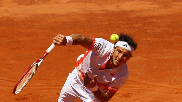 Juan Monaco Of Argentina Serves Getty Images