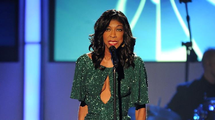 "Natalie Cole performs ""A Little More Blue"" at the 2012 Latin Recording Academy Person of the Year Tribute to Caetano Veloso at the MGM Grand Garden Arena on Wednesday, Nov. 14, 2012, in Las Vegas. (Photo by Powers Imagery/Invision/AP)"