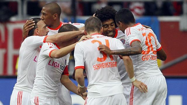 German Bundesliga : Bayern earn record eighth straight victory