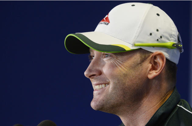 Australia's Michael Clarke during a press conference