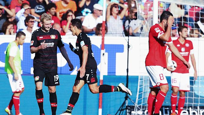 WATCH: Chicharito scores hat trick in Leverkusen win