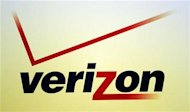 A Verizon logo is seen during the International CTIA WIRELESS Conference & Exposition in New Orleans, Louisiana