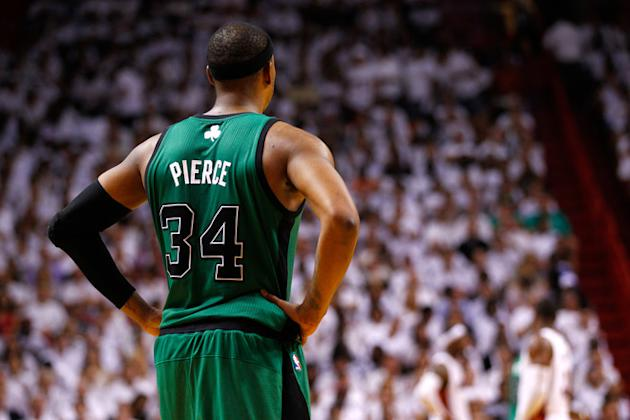 Paul Pierce #34 Of The Boston Celtics Stands Getty Images