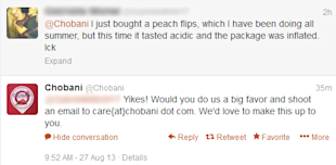 What Have You Done For Me Lately? Thoughts on the Brand Customer Relationship image Chobani 2