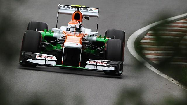 Formula 1 - Sutil sets early pace on final day