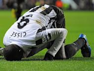 Newcastle United's Senegalese striker Papiss Cisse celebrates after scoring the opening goal of the English Premier League football match between Aston Villa and Newcastle United at Villa Park in Birmingham, West Midlands, England on January 29, 2013. Newcastle won 2-1