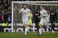 Football Soccer - Real Madrid v Napoli - UEFA Champions League Round of 16 First Leg - Estadio Santiago Bernabeu, Madrid, Spain - 15/2/17 Real Madrid's Karim Benzema celebrates scoring their first goal Reuters / Juan Medina Livepic