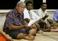Former Fiji prime minister Laisenia Qarase (seen in 2006), the last democratically elected leader in the coup-plagued South Pacific nation, has been sentenced to 12 months jail Friday after being found guilty of corruption