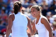 Sara Errani and Roberta Vinci of Italy react against Andrea Hlavackova and Lucie Hradecka of the Czech Republic during their women's doubles final match on Day Fourteen of the 2012 US Open. Errani and Vinci won the US Open women's doubles title on Sunday with a 6-4, 6-2 triumph