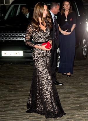 Kate Middleton Recycles Sexy Lace Alice Temperley Gown at London Gala