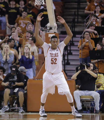 Texas freshman Myles Turner says he'll leave for NBA draft