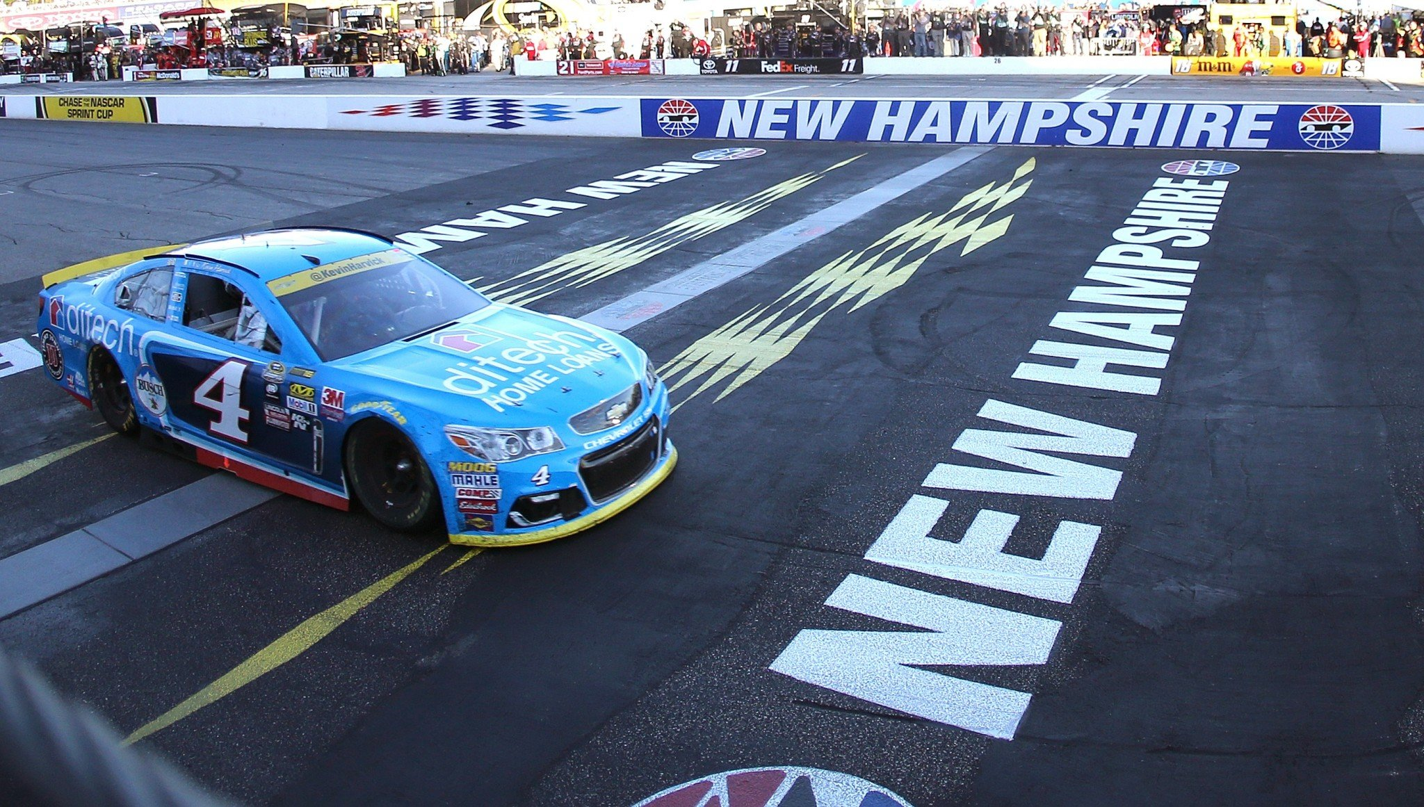 Kevin Harvick didn't run out of gas this year at New Hampshire (Getty).