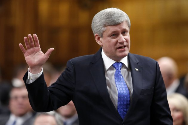 Prime Minister Harper speaks during Question Period in the House of Commons on Jan. 27, 2015. (Reuters)
