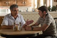 "In this image released by Universal Pictures, Eugene Levy, left, and Jason Biggs are shown in a scene from ""American Reunion"". (AP Photo/Universal Pictures, Hopper Stone)"
