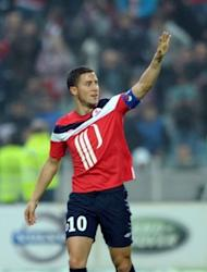 Eden Hazard bade farewell to outgoing champions Lille by netting a first-half hat-trick in a 4-1 win at home to Nancy in his final game for the club, on May 20