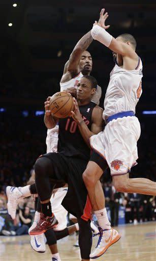 APTOPIX Raptors Knicks Basketball