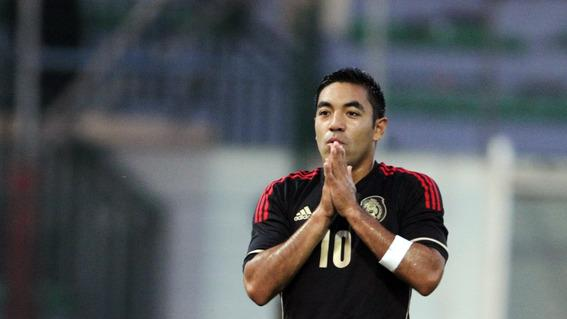 Mexico's Forward Marco Fabian Reacts  AFP/Getty Images