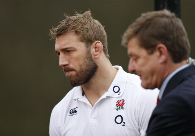 England's Chris Robshaw during a interview