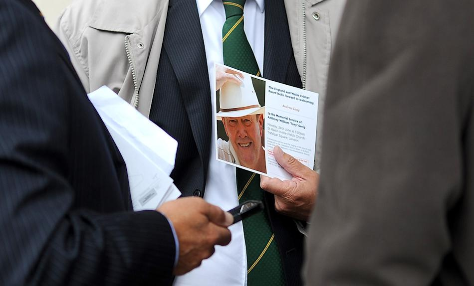 [CPOTW30613] Cricketer Tony Greig Memorial Service