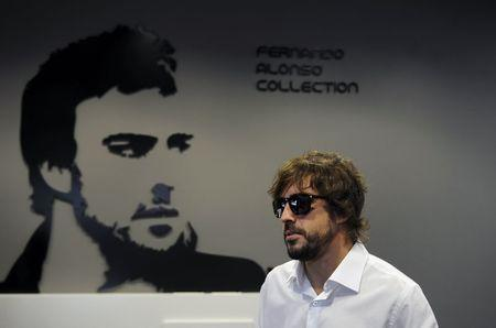 Alonso arrives for the inauguration of the Fernando Alonso Museum in Llanera