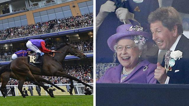 Horse Racing - History at Ascot as Queen's horse wins Gold Cup